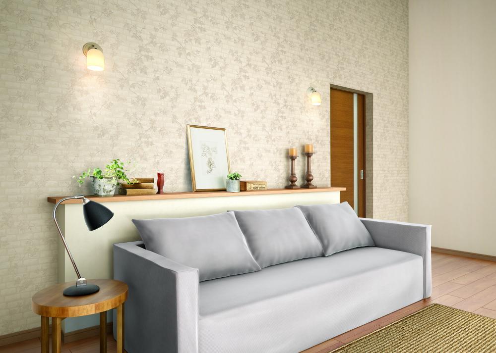 Giấy dán tường có ưu điểm thi công nhanh, không gây mùi khó chịu và dễ dàng thay đổi nếu chủ nhà thích sự mới mẻ