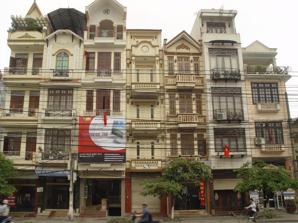 nhà phố khu trung tâm