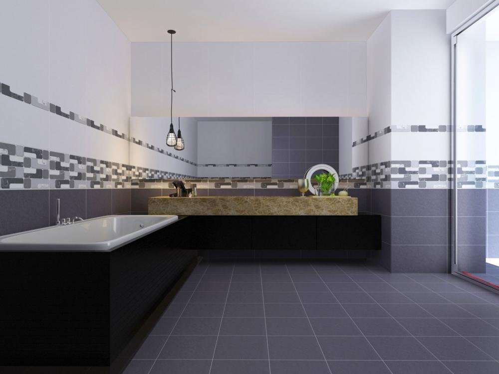 Bạn nên lựa chọn chất liệu tường và sàn chống trơn trượt, không thấm nước và dễ dàng vệ sinh
