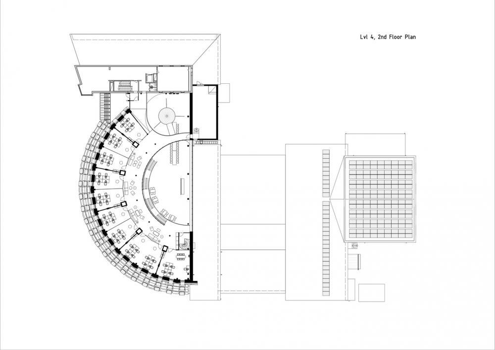 Thiết kế tầng 4 của tòa nhà Paf