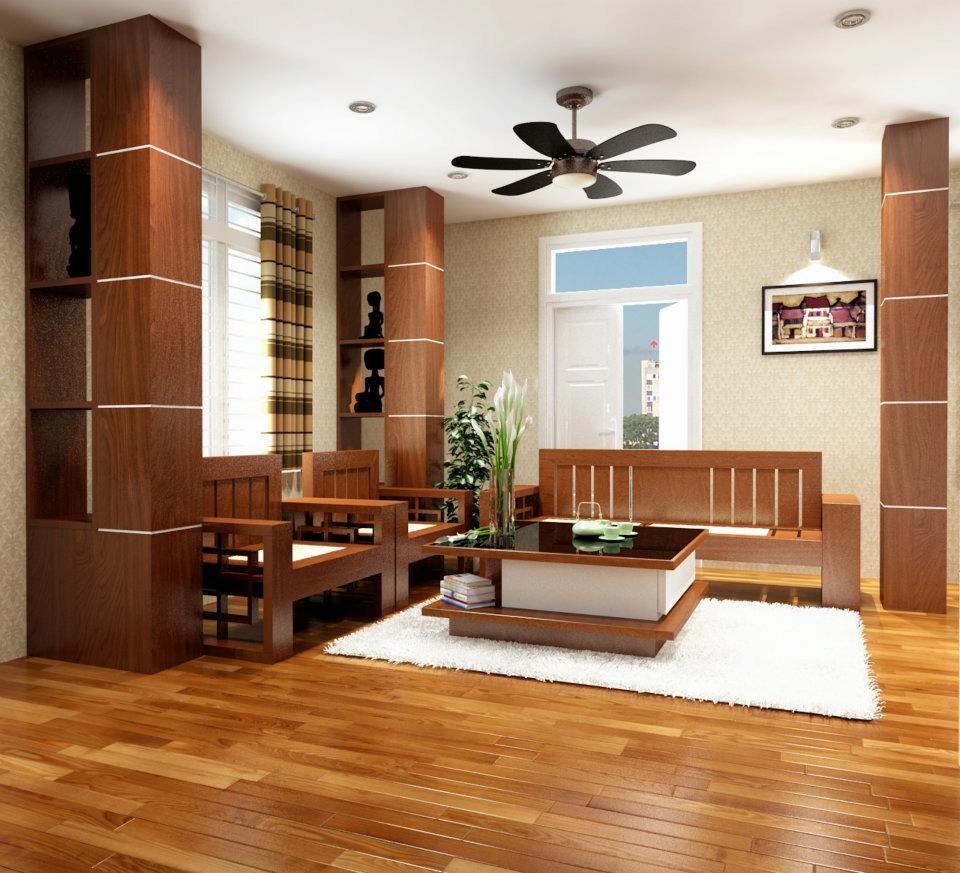 Quạt thông gió làm sàn gỗ khô thoáng cũng như bớt cảm giác ngột ngạt, bức bí cho căn phòng