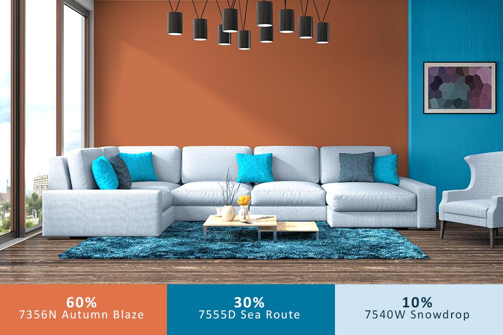 Bạn luôn phải nhớ tỷ lệ 60-30-10 khi phối màu cho ngôi nhà