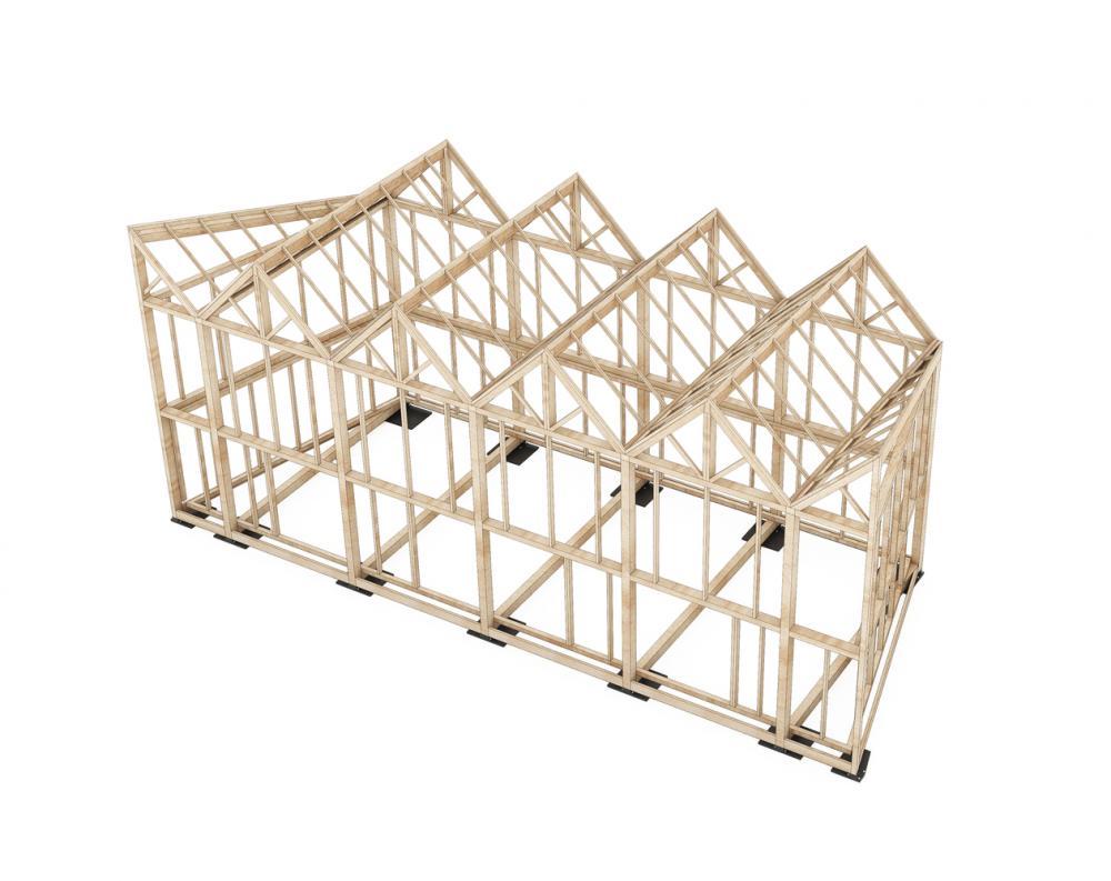 Phần khung của quán được làm từ gỗ đã qua sử dụng