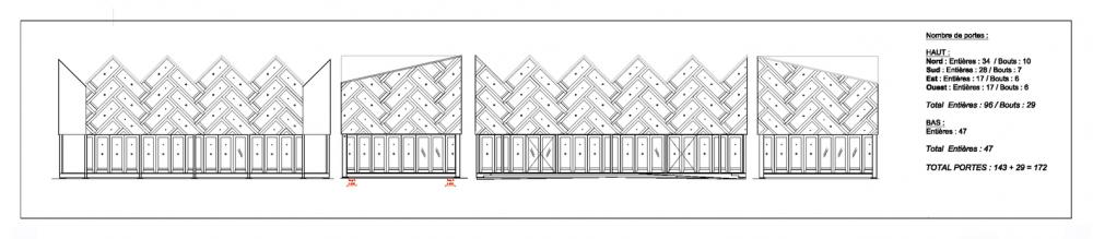 Thiết kế phần mái của quán cafe