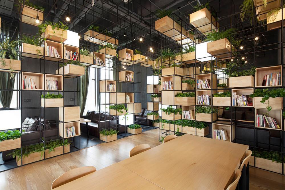 Văn phòng làm việc nhiều cây xanh là ý tưởng thiết kế không tồi