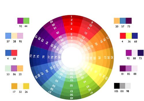 Để phối màu hợp lý, bạn có thể dựa theo vòng tròn màu sắc