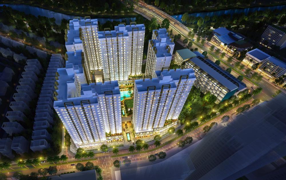 Phối cảnh tổng thể dự án Akari City
