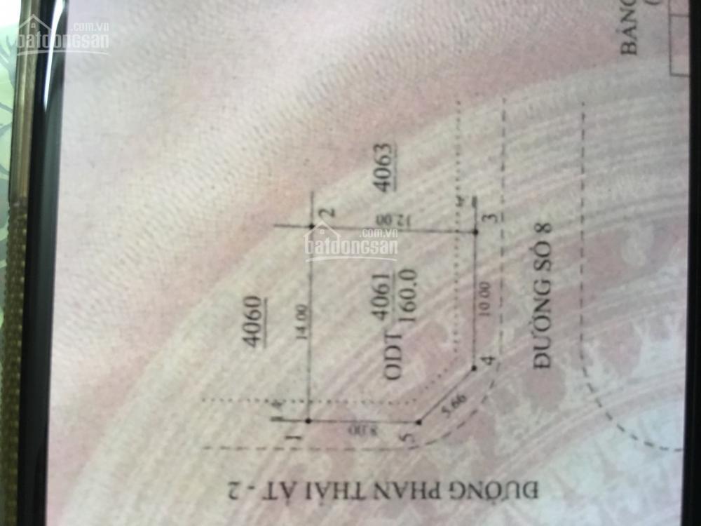 Cho thuê mặt bằng đất tại lô góc phan thái ất và đường số 8, hướng tây nam