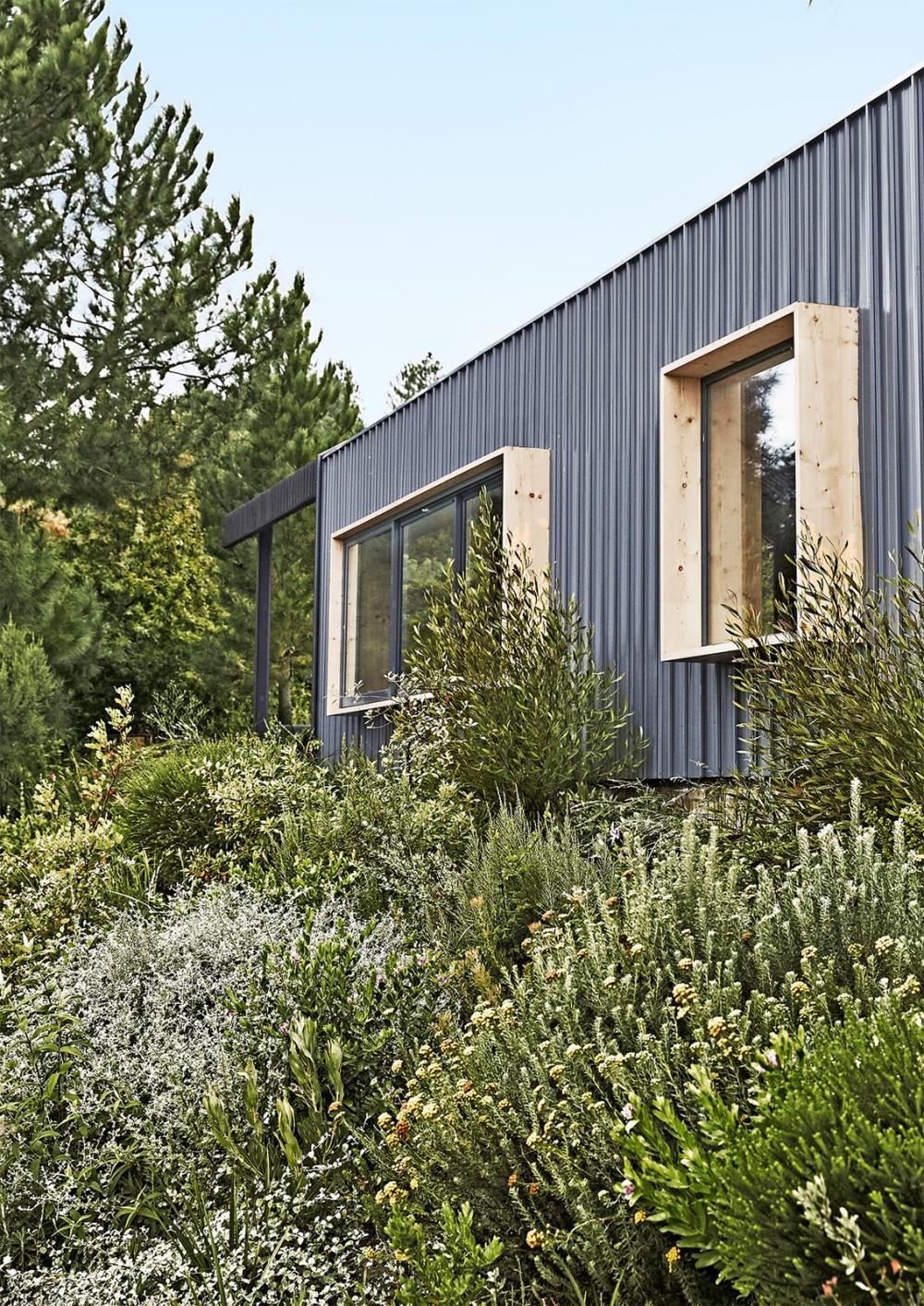 Cửa sổ được tạo điểm nhấn bằng cách đóng khung gỗ bao quanh bên ngoài