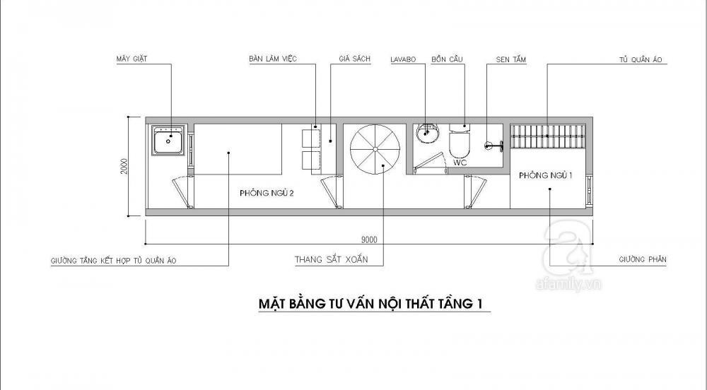 nhà ống 18m2