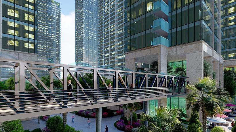 Cầu liên các tòa nhà