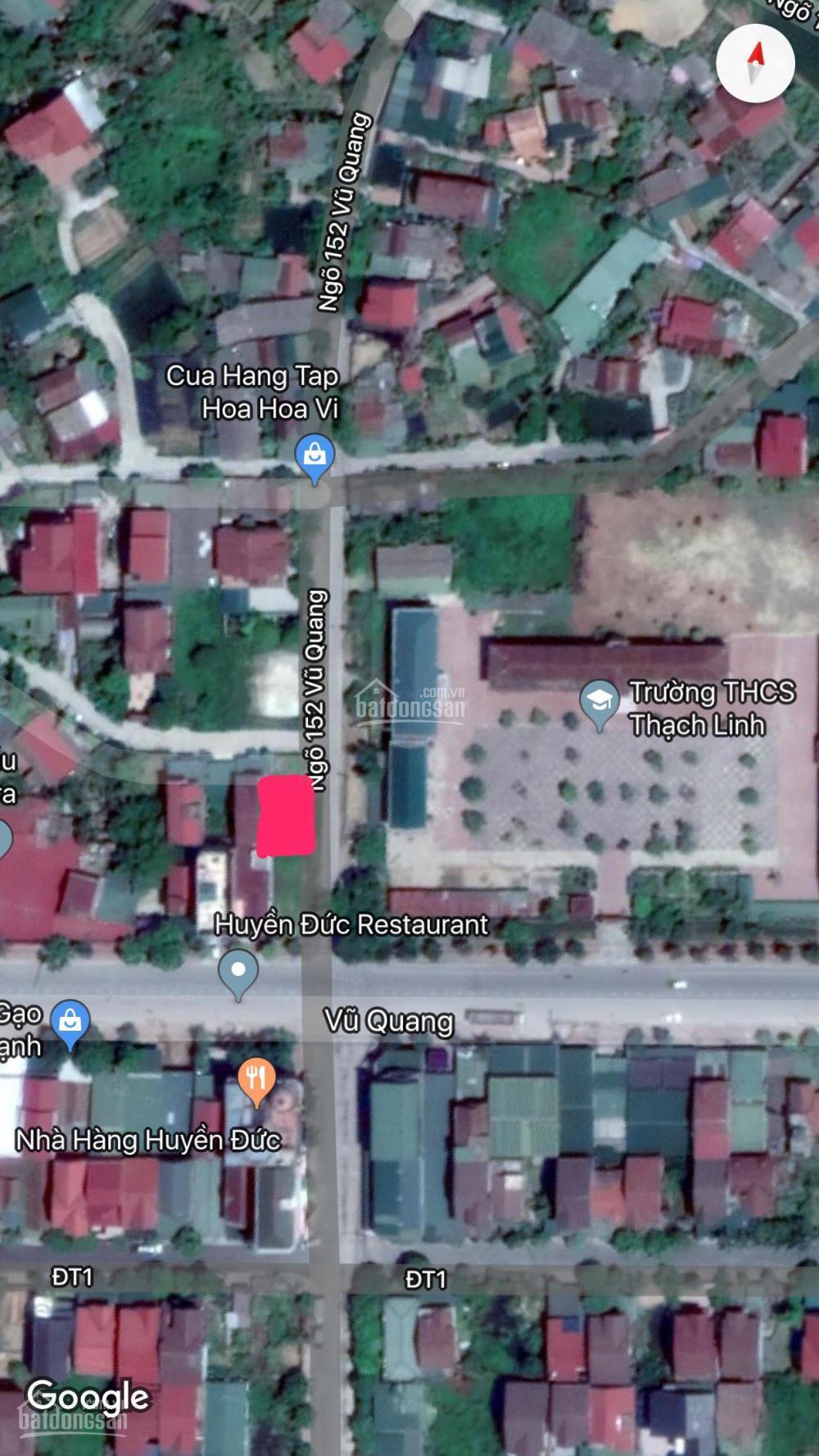 Cho thuê đất đường vũ quang, đối diện nhà hàng huyền đức (sơ đồ kèm theo). đt: 0375950631