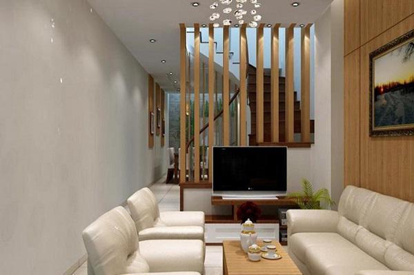 Thiết kế nội thất cho phòng khách có cầu thang