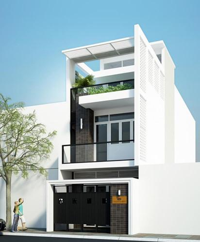 Mẫu nhà mái bằng 3 tầng