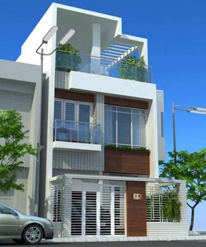 mẫu nhà 2 tầng mái bằng