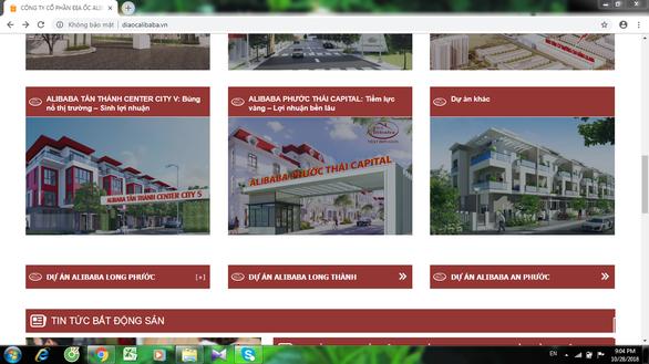 Một trang web của Công ty Alibaba