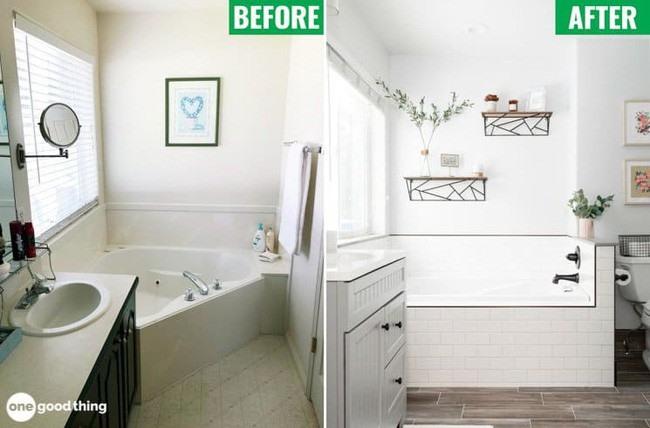 Phòng tắm đẹp sau cải tạo