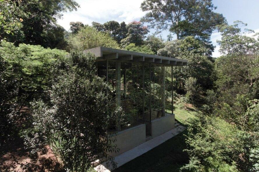 Nhà kính giữa rừng nhiệt đới Brazil