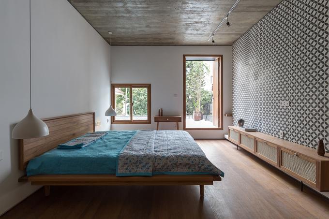 Phòng ngủ trong công trình Nhà Phễu