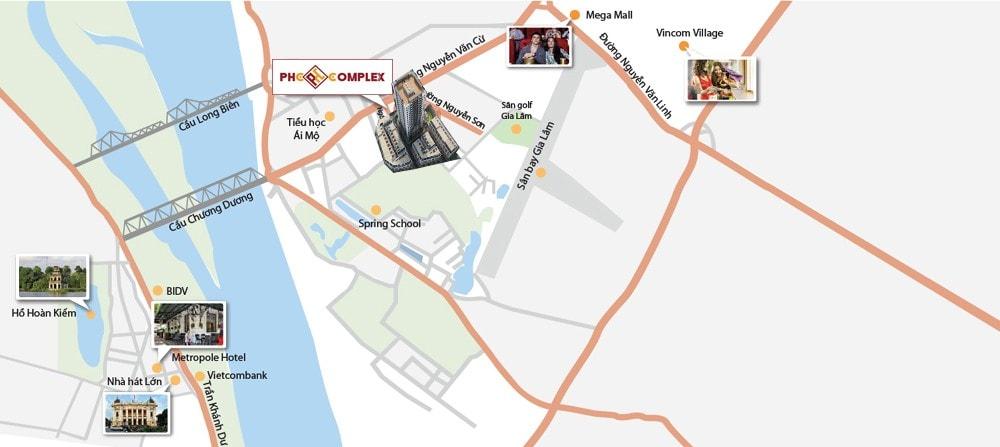 Vị trí chung cư 158 Nguyễn Sơn