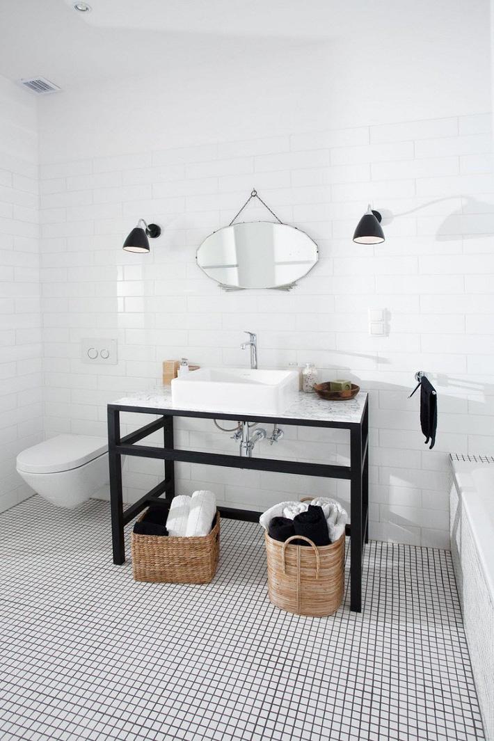 mẫu phòng tắm đen - trắng hoàn hảo