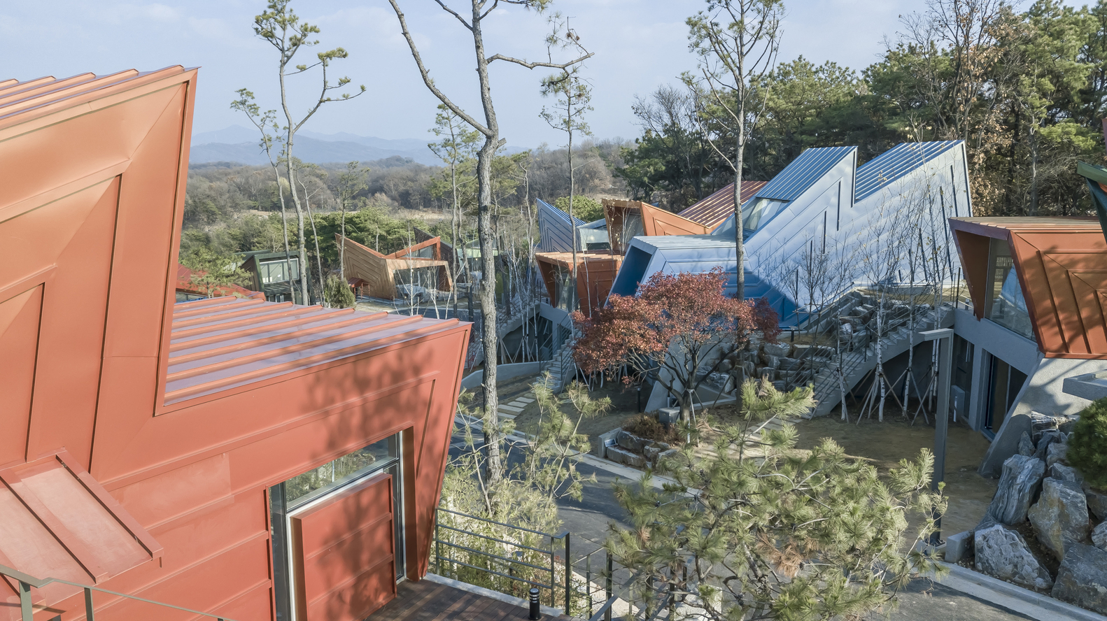 khu nhà ở đầy màu sắc ở Hàn Quốc