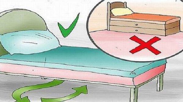 phong thủy gầm giường