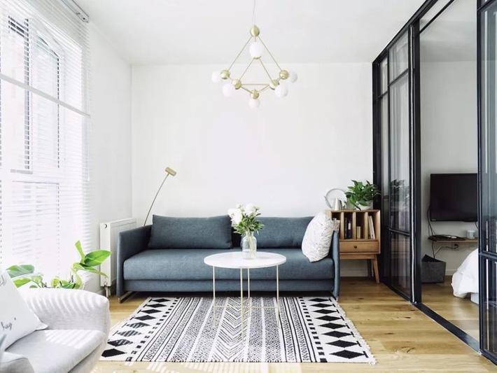 ghế sô pha màu xanh xám
