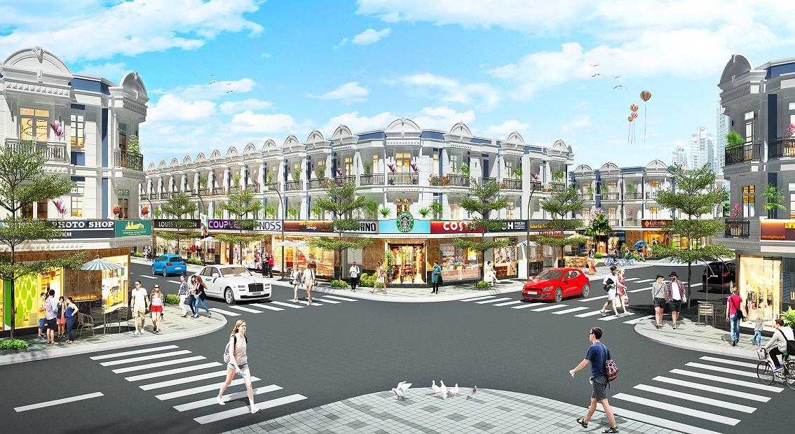 nhà phố thương mại Uni Mall Center.