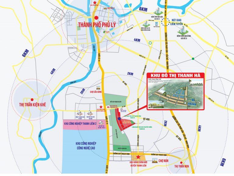 Vị trí Khu đô thị Thanh Hà