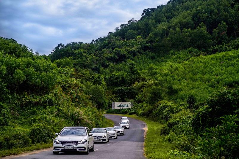 đường về Laguna Lăng Cô