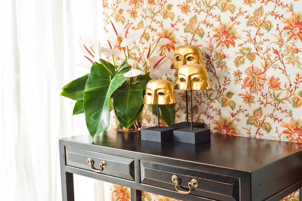 họa tiết in hoa trong phong cách hiện đại