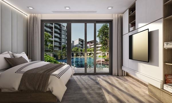 phòng ngủ căn hộ dự án Lic City