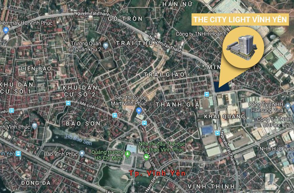 thông tin dự án The City Light Vĩnh Yên