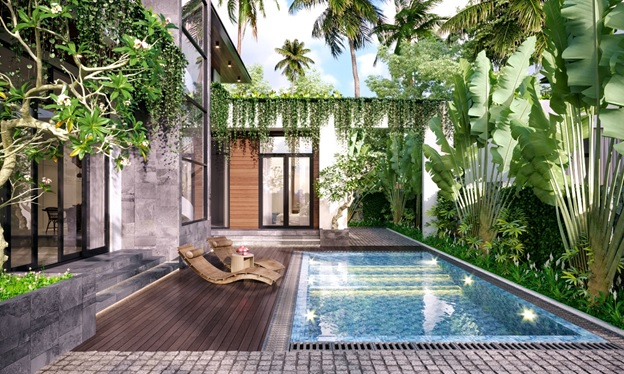 bể bơi Goldsand Hill Villa
