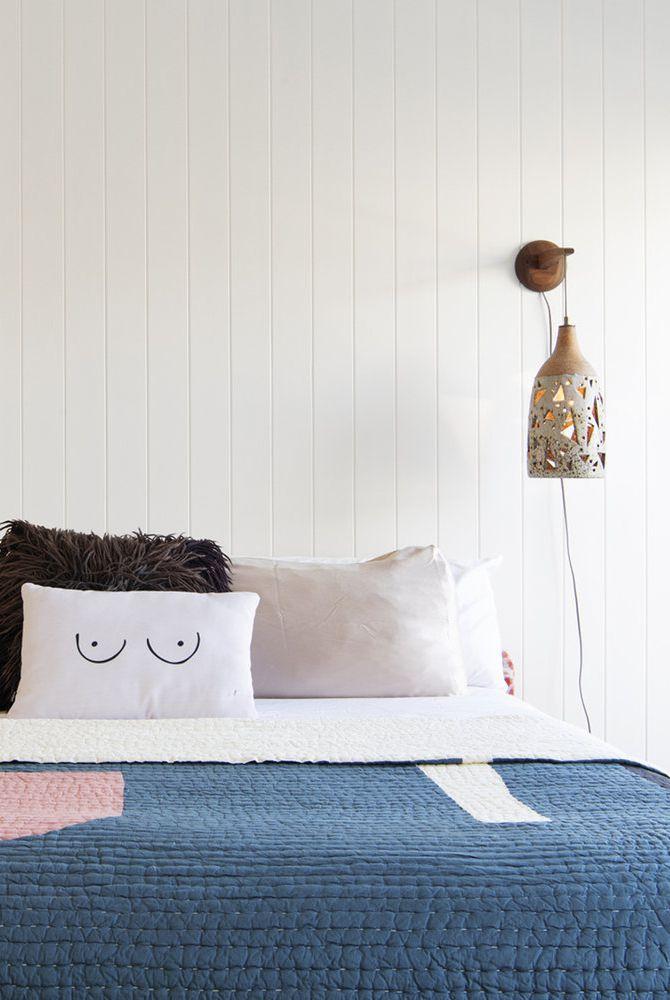phòng ngủ chiết trung tối giản