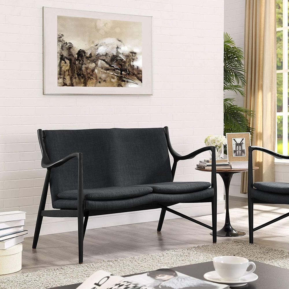 sofa đôi màu đen