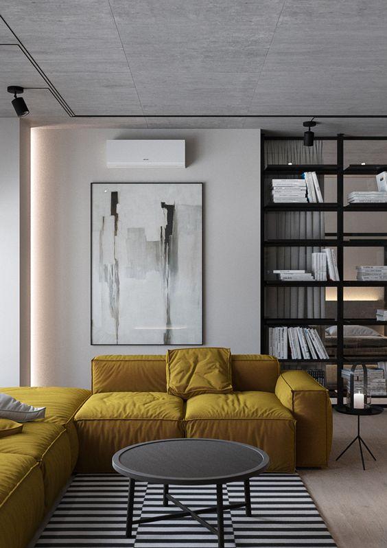 sofa màu vàng