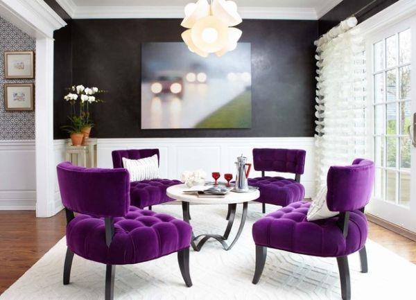 ghế màu tím