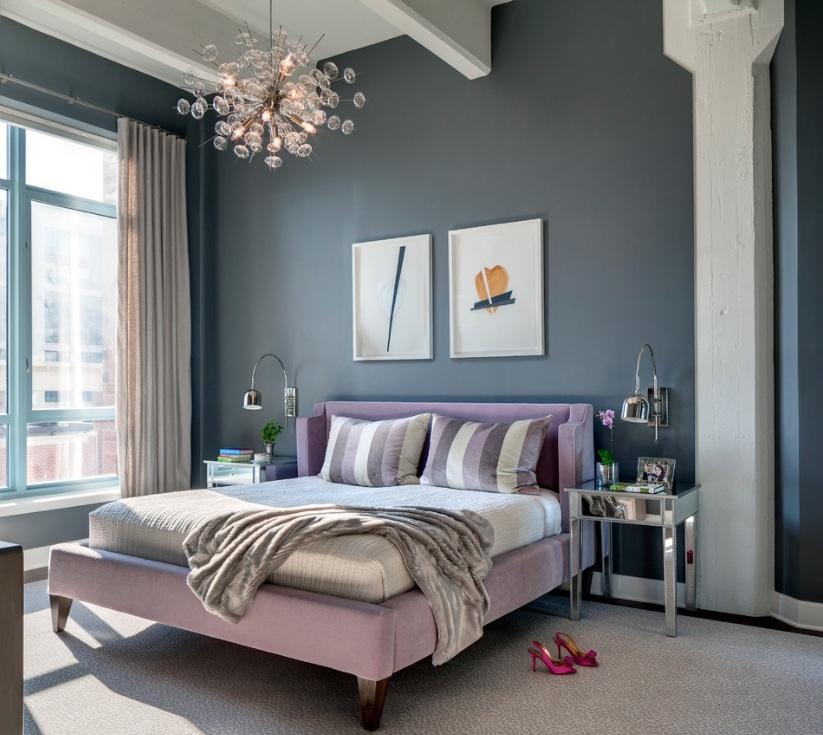 phòng ngủ phong cách chuyển tiếp