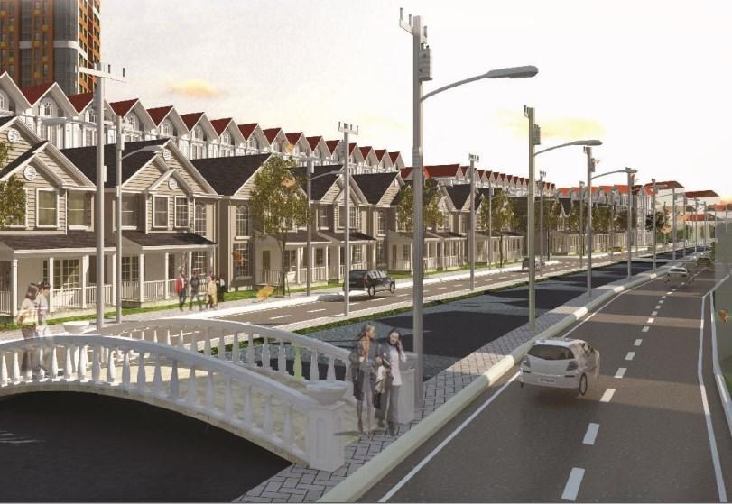 biệt thự và đường phố hiện đại trong KĐT Hải Quân - Tam Giang