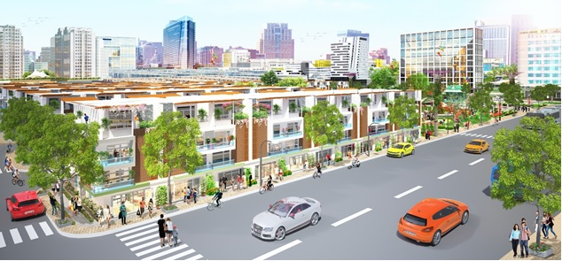 shophouse của Eco Town Long Thành.