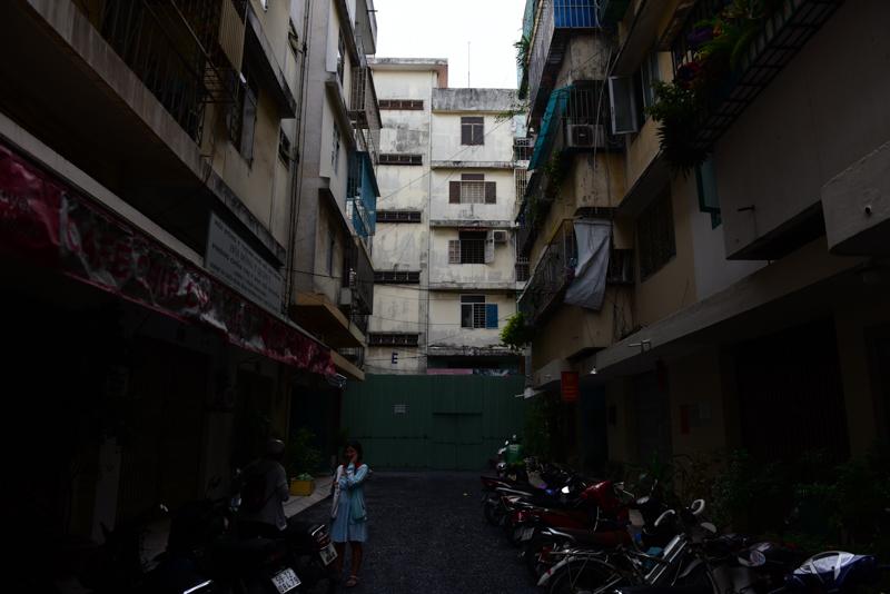 quan cảnh chung cư 518 Võ Văn Kiệt
