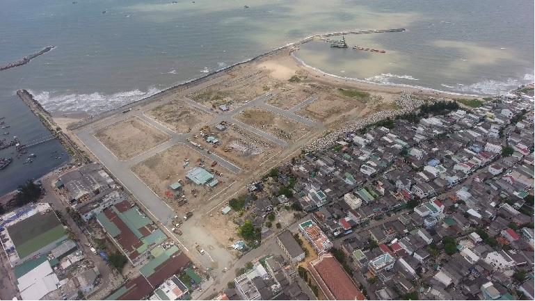 tiến độ dự án Queen Pearl Marina Complex