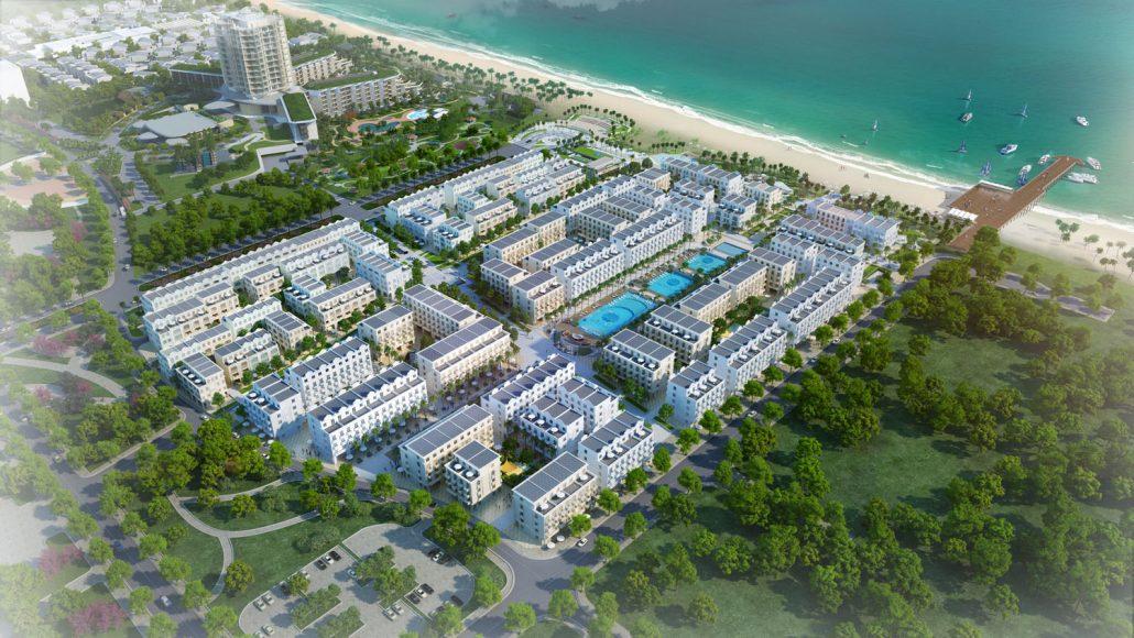 Hình ảnh phối cảnh toàn khu dự án Waterfront Luxury Hotels