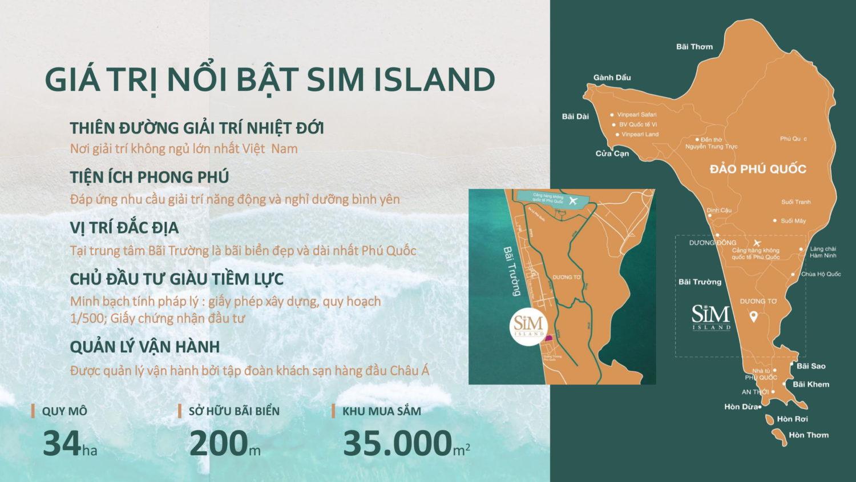 Sơ đồ vị trí dự án Sim Island Phú Quốc