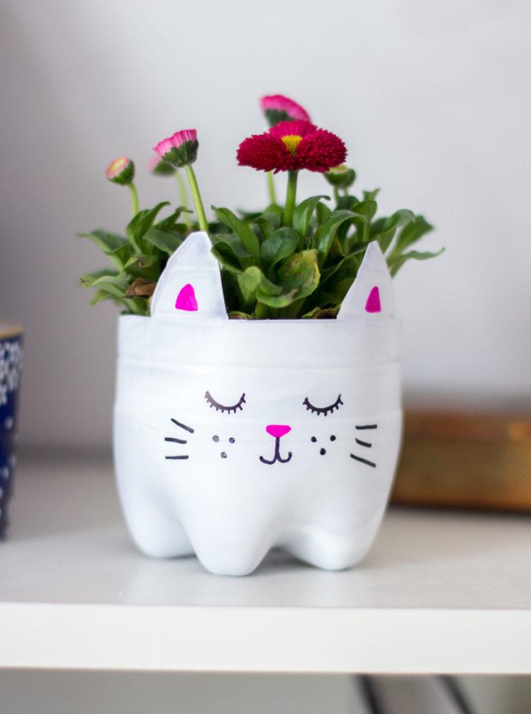 chậu trồng cây hình chú mèo