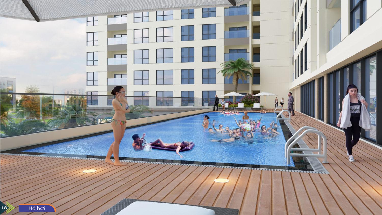 Bể bơi tại tầng 3