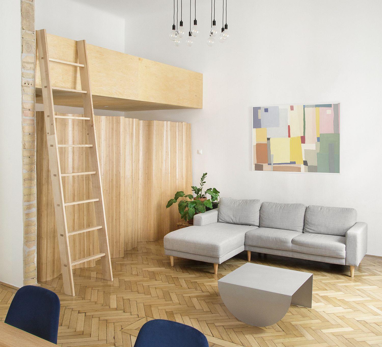 không gian bên trong căn hộ nhỏ