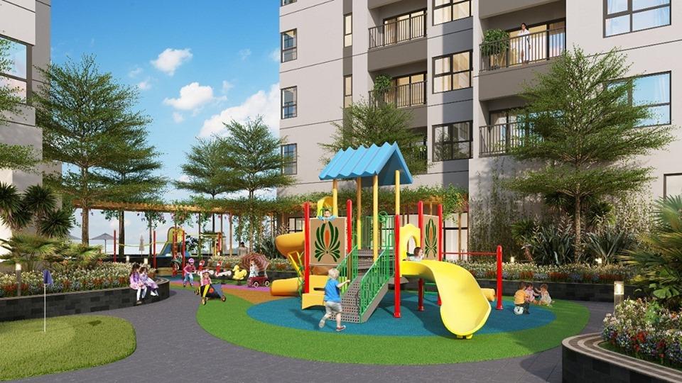 Phối cảnh Khu vui chơi dành cho trẻ em tại Thăng Long Green City
